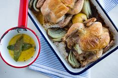 Cornish Game Hen with Preserved Lemons & Bay Leaf Butter by theyearinfood #Cornish_Game_Hen