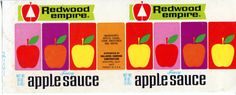 Redwood Empire Apple sauce label from O. A. Hallberg & Sons Apple Products cannery in Graton, California