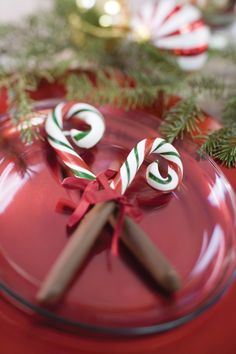 Christmas Candy Cane Setting