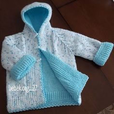 No automatic alt text available. Crochet Baby Sweaters, Knitted Baby Clothes, Toddler Outfits, Kids Outfits, Boys Sweaters, Knit Cowl, Baby Knitting Patterns, Little Girl Dresses, Baby Sewing