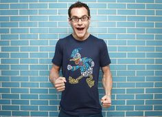 donald duck made of little donald ducks. i'm really liking these new designs on threadless.