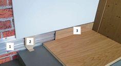 Plinthes affleurées avec le mur et LED de Admonter