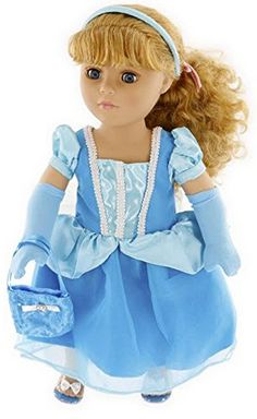 Cinderella Doll Clothes for American Dolls or My Generation Dolls - A Thrifty Mom
