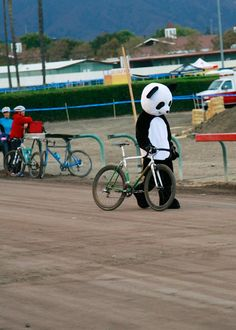 It makes me happy to see pandas taking up cycling.