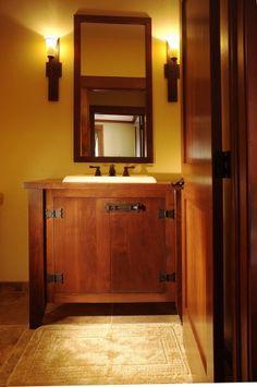 I like this mission style bathroom.