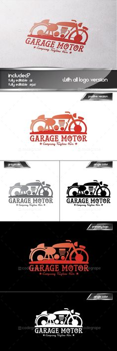 Garage Motor Logo Set - http://www.codegrape.com/item/garage-motor-logo-set/5948
