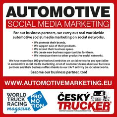 CZECH TRUCKER – a magazine for promoting sales of trucks and commercial vehicles - buses - delivery vans - trailers - municipal and handling equipment – container carriers - construction and. Online Advertising, Online Marketing, Social Media Marketing, Digital Marketing, Mobile Marketing, Automobile, Used Trucks, Sale Promotion, Commercial Vehicle