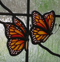 Exquisite little detail to a large stained glass window. Nature panel.