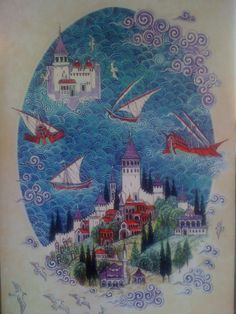 a miscellaneous poster from the train station in Istanbul - Nusret Çolpan