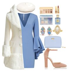"""""""Winter Blues"""" by khriseus ❤ liked on Polyvore featuring Milly, New Directions, Gianvito Rossi, WWAKE, Dolce&Gabbana, Effy Jewelry, WithChic, Anastasia Beverly Hills, Bella Bellissima and Yves Saint Laurent"""