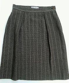 Vintage Giorgio Armani Le Collezioni Brown Wool Blend Skirt Italy IT 42 US 8