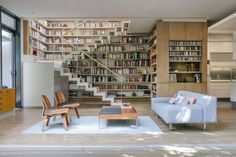 Ever wanted your own book-lined wall? This 1,937sqft home in Mexico City, Mexico, is both book and nature-smart. Designed by Paul Cremoux Studio, 70% of the yea