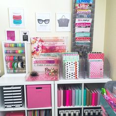 Colorful Craft Room Decoration Ideas - The Urban Interior - Colorful Craft Room Decoration Ideas Colorful Craft Room Decoration Ideas - The Urban Interior - Colorful Craft Room Decoration Ideas - UNION JACK low pile rug in grey / pink 120 x My New Room, My Room, Deco Cool, Cute Room Decor, Desk Organization, Scrapbook Organization, Space Crafts, Getting Organized, Room Inspiration