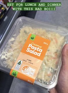 When it comes to Aussie mealtime heroes, few foods arouse the same sense of patriotism as a bucket of Woolies' creamy pasta salad. Creamy Pasta Salads, Aussie Food, Lunches And Dinners, Bucket, Things To Come, Foods, Eat, Food Food, Food Items