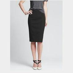 Banana Republic Sloan pencil skirt Black pencil skirt. Back zipper. Stretchy. NWT. Runs a little small, probably best for size 8-10. Banana Republic Skirts Pencil