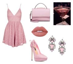 """""""🌹"""" by angel-barbara ❤ liked on Polyvore featuring Topshop, ShoeDazzle, WithChic, Lime Crime and Erickson Beamon"""