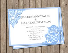 Happy New Year, Dear friends! Here is my post for the year 2014 and I'd like to continuously talk about the 2014 trends of wedding invitations. If the colors of your wedding invitation cards have not been determ. Blue Wedding Invitations, Invites, Wedding Stuff, Our Wedding, Diana Wedding, Dusty Blue Weddings, Wedding Inspiration, Wedding Ideas, Themed Weddings