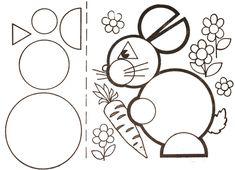 zając Mathematics Geometry, Teaching Geometry, Animal Crafts For Kids, Art For Kids, Fun Activities For Kids, Math Activities, Shape Games, Shapes For Kids, Dyslexia