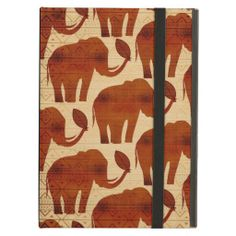 #Elephant #Tribal #Art #Design #Cover For #iPad Air - Sold at #Zazzle!