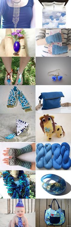 All Shades of Blue by Nadia Morgan on Etsy--Pinned with TreasuryPin.com