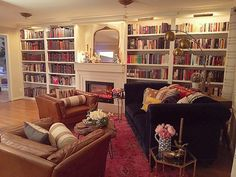 Beautiful home library... Including some #eastonpress books at top of second shelf from left! Thanks @ashleyryan85 #repost