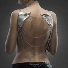 Andreea Mogosanu - Scapula - It's a necklace that can be worn on the back - Material Sterling silver - 140 gr