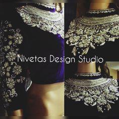 Designer blouse @nivetas  Query  Whatsapp:-  +917696747289  E-mail:- nivetasfashion@gmail.com