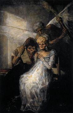 Las viejas / El Tiempo / Hasta la muerte (1810-12) Francisco de Goya.