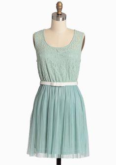 Sweet Mint Pleated Dress | Modern Vintage Dresses
