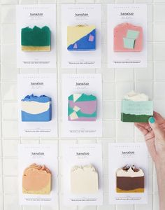 This soap looks like a goodie to eat. Nothing says upscale like unique packaging and fresh designs Soap Packaging, Brand Packaging, Packaging Design, Branding Design, Packaging Ideas, Web Design Trends, Ui Design, Blog Design, Interior Design