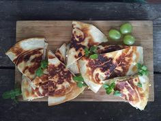 You will need: Flour Tortillas (fuck you, I know they suck, eat a choad b/c they work in this recipe) Green grapes (not under UFW boycott since the '80s) Brie cheese (do not eat if your name is Bree, since cannibalism etc.) EVOO (extra virgin olive oil, butter is fine if you only have that)