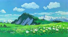 The Art Of Hayao Miyazaki's Castle Of Cagliostro Fantasy Art Landscapes, Fantasy Landscape, Landscape Art, Beautiful Landscapes, Studio Ghibli Background, Animation Background, Dnd Backgrounds, Drawing Scenery, Guache