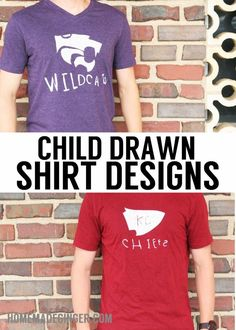The Easiest Way To Turn A Child's Drawing Into T-Shirt Logo - Homemade Ginger