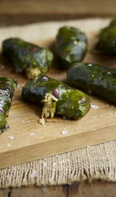 Dolmades (aka dolma, or waraq enab) recipe with beet leaves and rice. Great vegetarian recipe