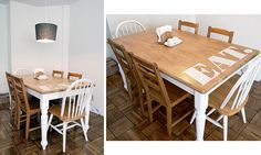 DIY dining room table stencil.  THIS IS THE BEST IDEA EVER!!!