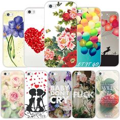 Transparent Edge Romantic Flowers Printed Hard PC Protect Back Skin Cover Cases For Apple iphone 5 5s SE fundas coque WHD1408 - http://mixre.com/product/transparent-edge-romantic-flowers-printed-hard-pc-protect-back-skin-cover-cases-for-apple-iphone-5-5s-se-fundas-coque-whd1408/