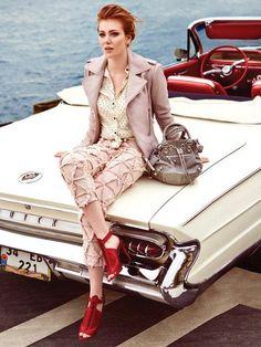 Elçin Sangu - InStyle Magazine Pictorial [Turkey] (May Turkish Women Beautiful, Turkish Beauty, Beautiful Girl Image, Beautiful Redhead, Hottest Female Celebrities, Celebs, Up Auto, Pin Up, Elcin Sangu