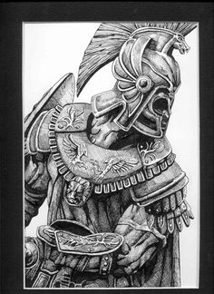 Warrior Viking Tattoo Sketch Photo - 1