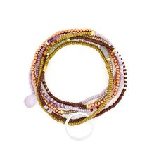 Miyuki seed beads, semi-precious stones and beads, gold plated sterling silver beads and charms. Average length The Makery beaded accessories are handmade and colours and patterns may be slightly different to those pictured Beaded Necklace, Beaded Bracelets, Gold Beads, Sterling Silver, Stone, Accessories, Collection, Jewelry, Beaded Collar