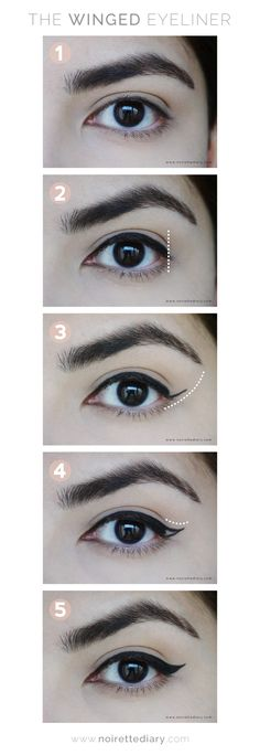 Make-up Eyeliner Winged Tutorials Augenbrauen Ideen - Makeup Tutorial Over 40 Perfect Eyeliner, Eyeliner Looks, How To Apply Eyeliner, Black Eyeliner, Korean Eyeliner, Korean Makeup, Eyeliner Wing, Applying Eyeliner, Eyeliner Pencil