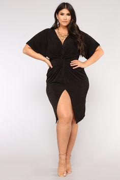 Plus Size Full Grown Knot Dress - Black $24.99 #ootd #style #fashion #chic #elegant #streetstyle #fashionable #fashionblogger #stylish #stylist #outfit #fashionblog #designer #hautecouture #fashionista #sexy #trendy #trend #beauty #dresses #outfits #moda #outfitswomen #vogue #curve #outfit #plussize #dress #fashionblogg #fashions