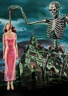 Artwork from 'House on Haunted Hill' can find Vintage horror and more on our website.Artwork from 'House on Haunted Hill' Horror Posters, Funny Posters, Horror Comics, Arte Horror, Gothic Horror, Horror Film, Halloween Horror, Halloween Art, House On Haunted Hill