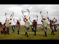 Documentary segment about the Abbots Bromley Horn Dance. This dance & procession, using reindeer antlers, takes place every September in the village of Abbot. Ritual Dance, Morris Dancing, Reindeer Antlers, English Village, Winter Solstice, Pagan, Wicca, Christmas Carol, Science And Nature