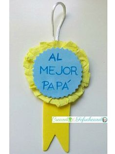Medalla en goma eva para regalar el Día del Padre.En el Blog encontraréis el Tutorial,es muy fácil de hacer :) #gomaeva #manualidades #diadelpadre #handmade #diy