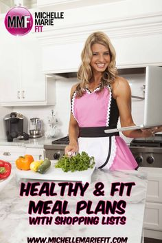 OMG, 4 weeks full of #HEALTHY Week Night Meals with shopping lists and recipes and healthy snack recipes.   The RECIPES look delicious.  http://www.michellemariefit.com/be-fit-moms-workout-meal-plan