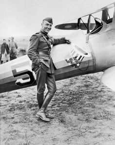Captain Eddie Rickenbacker and his Nieuport 28!