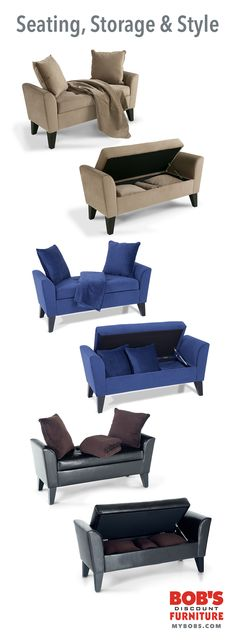 Seating, #storage & style. Does it get any better than that? Only $199 each, only at mybobs.com!