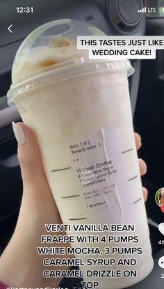 Starbucks Secret Menu Drinks, Starbucks Recipes, Donut Recipes, Starbucks Coffee, Coffee Drink Recipes, Coffee Drinks, Easy Healthy Meal Prep, Healthy Food, Dunkin Donuts