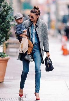 Miranda Kerr stylish mum