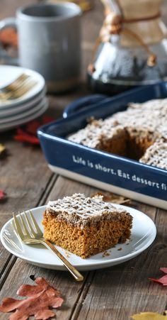 It's ALMOST that time. Pumpkin Coffee Cake for the Fall.